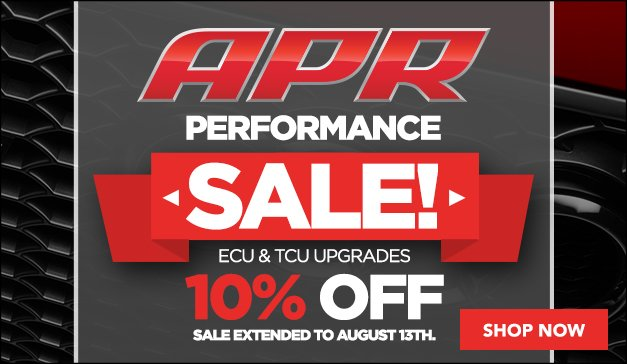 APR Performance Upgrade Sale Now Extended