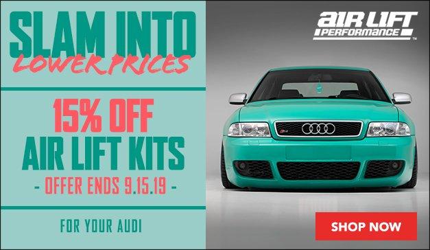 Audi - 15% Off Air Lift Kits