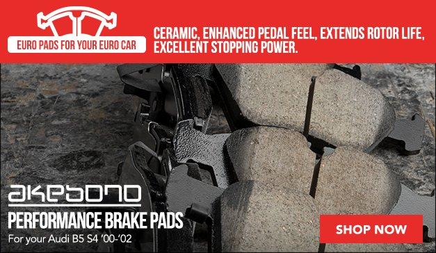 Akebono Brake Pads Audi B5 S4