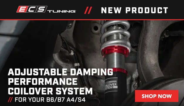 Audi - New ECS B6/B7 A4/S4 Adjustable Damping Performance Coilover System