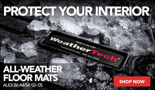 WeatherTech® All-Weather Floor Mats   Audi B6 A4/S4