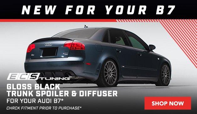 Audi - New ECS B7 A4/S4 Gloss Black Trunk Spoiler and Rear Diffuser