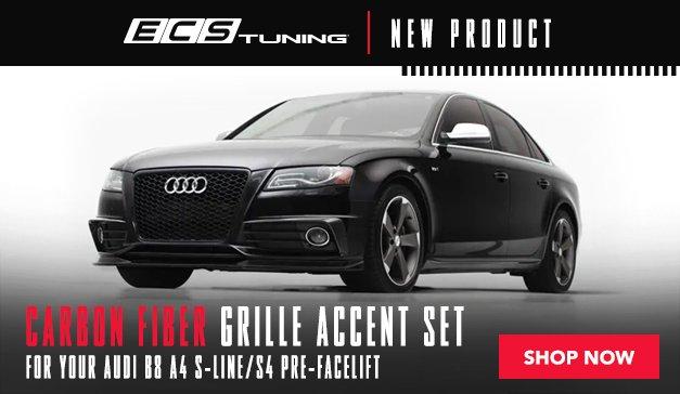 Audi B8 A4 S-Line/S4 Pre-Facelift Carbon Fiber Grille Accent Set