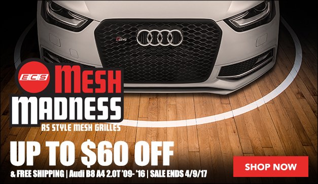 Audi B8 A4 - ECS RS4 Mesh Style Grilles