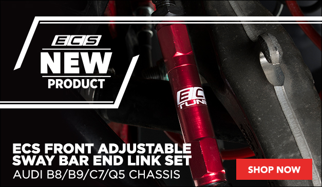 ECS Front Adjustable Sway Bar End Link Set | Audi