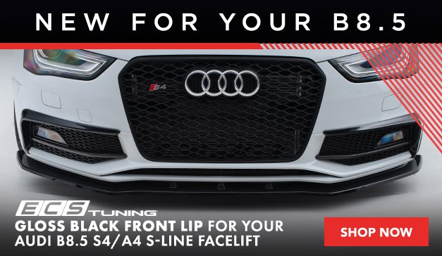 New ECS Audi B8.5 A4/S4 Facelift Gloss Black Front Lip