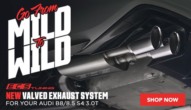 New ECS Valved Exhaust System For B8 S4 3.0T