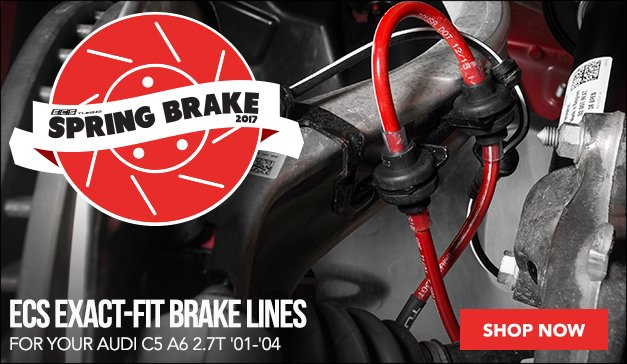 Exact-Fit Stainless Steel Brake Lines Audi C5 A6 2.7T