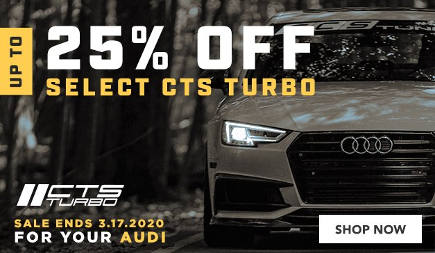 Audi - Up to 25% Off Select CTS Turbo