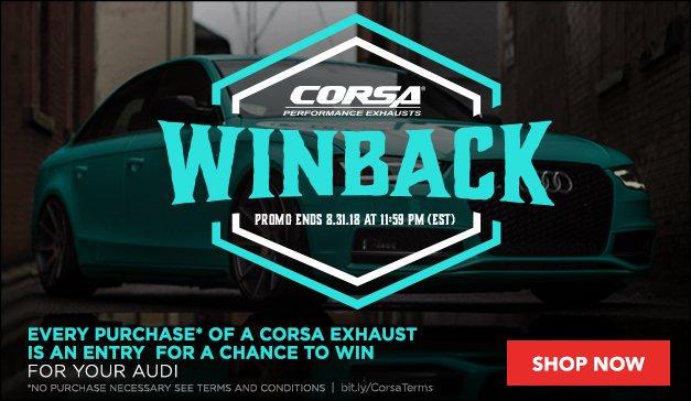 CORSA Winback & Gift Card audi
