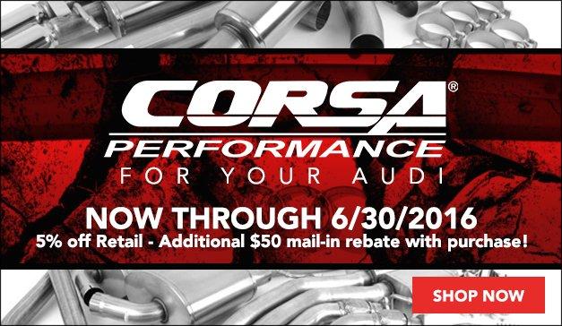 Audi Corsa Performance Exhaust Exhaust Rebate