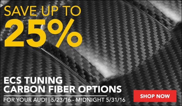 Audi ECS Carbon Fiber Parts | Up to 25% Off