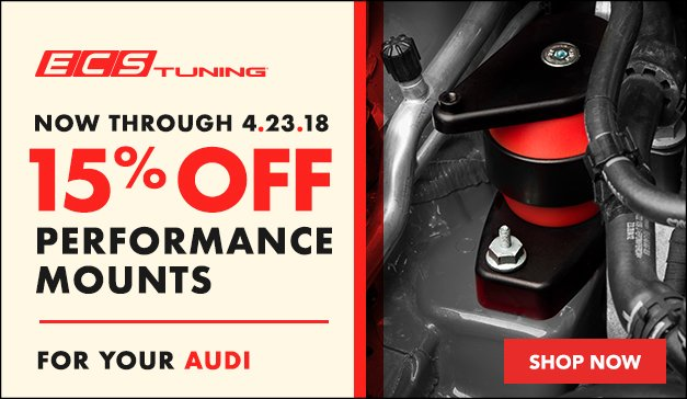 ECS Tuning Performance mounts for your Audi