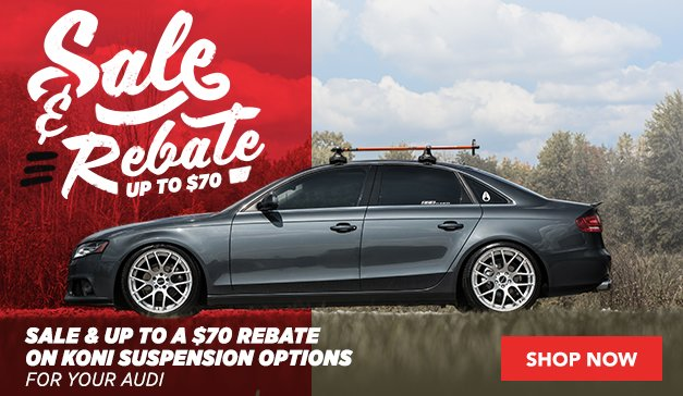 KONI Sale and Rebate for your Audi