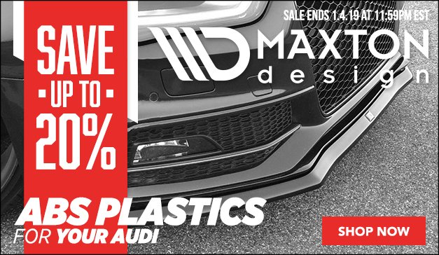 Now On Sale - Up to 20% Off Maxton Design - Audi