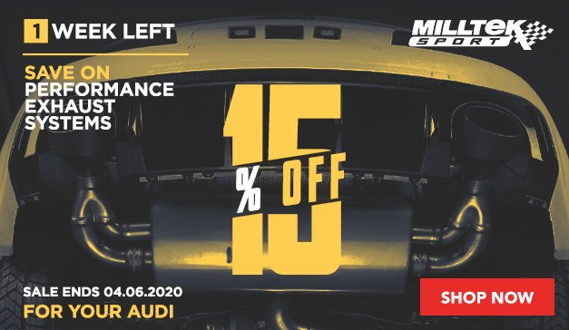 Audi - Save 15% Off On Milltek Sport Exhaust Systems