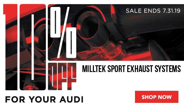 Audi - 10% Off Milltek Exhaust Systems