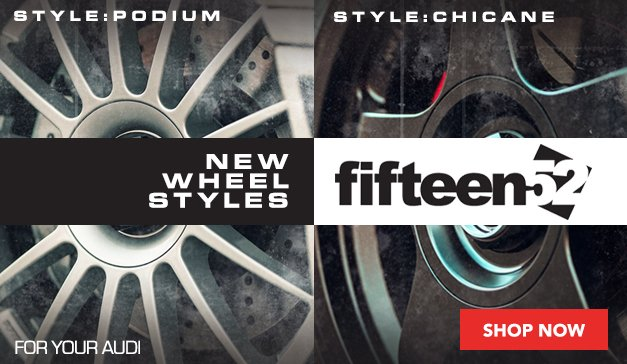 Audi - New Wheel Styles from fifteen52 Available At ECS