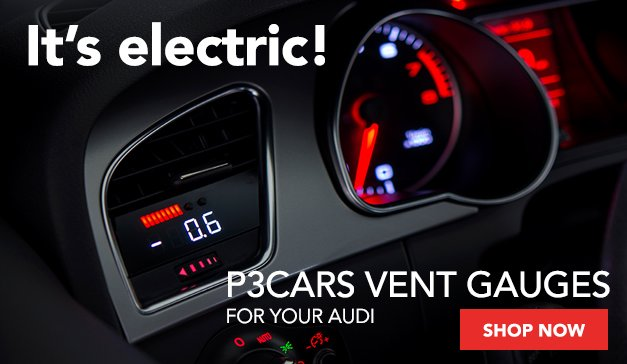 P3Cars Vent Gauges For Your Audi