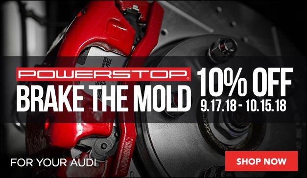 Audi - 10% Off Power Stop Braking Solutions