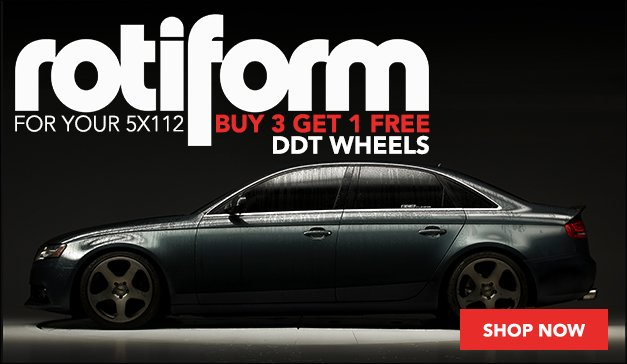 Audi/VW Rotiform DDT Wheels Buy 3 Get 1 Free