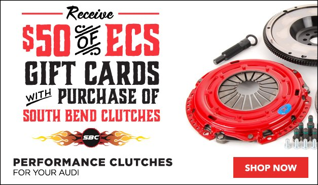 Receive ECS Gift Cards with Purchase of South Bend Clutches for your Audi