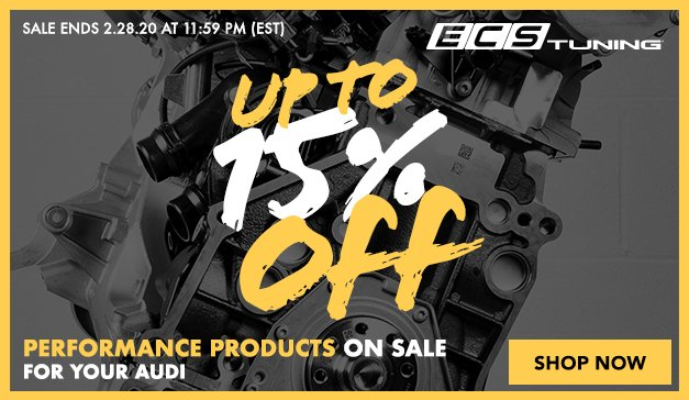 Audi - 3 Days Only! Up to 15% Off ECS Top Performance products and more