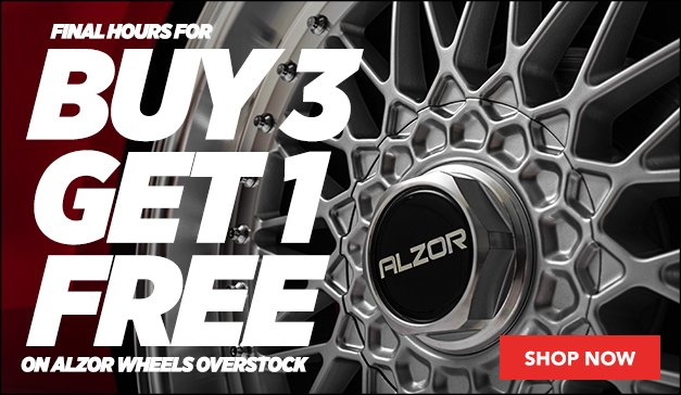 Final Hours to Buy 3 Get 1 Free on Alzor Wheels
