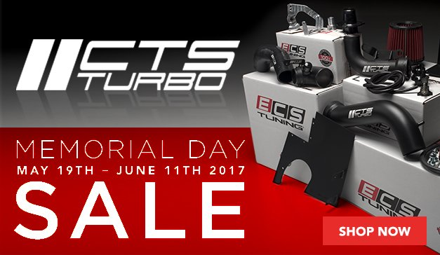 CTS Turbo Memorial Day Sale