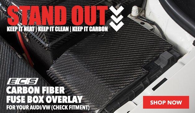 ECS Carbon Fiber Fuse Box Overlay | Audi/VW