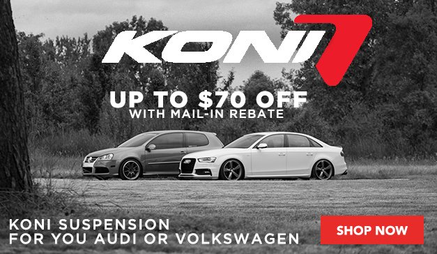 KONI Rebate for Audi and Volkswagen