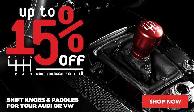 15% Off ECS Shift Knobs and Paddle Shifters