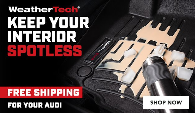 Audi Free Shipping On WeatherTech - Keep Your Interior Spotless