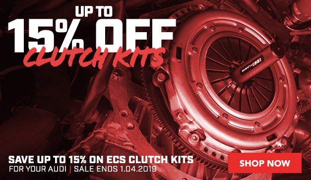 Up to 15% Off ECS Clutch Kits For your Audi