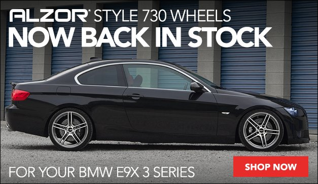 BMW ALZOR Style 730 Wheels Back in Stock