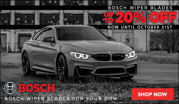 Up To 20% Off BOSCH Wiper Blades for your BMW