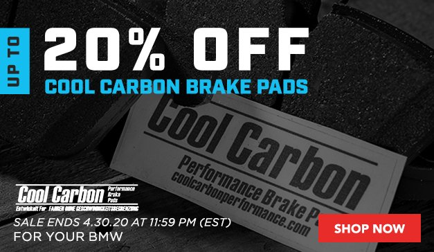 BMW - Up to 20% Off Cool Carbon Brake Pads