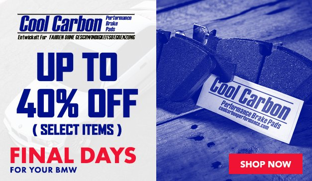 BMW - Up to 40% Off Cool Carbon Brake Pads