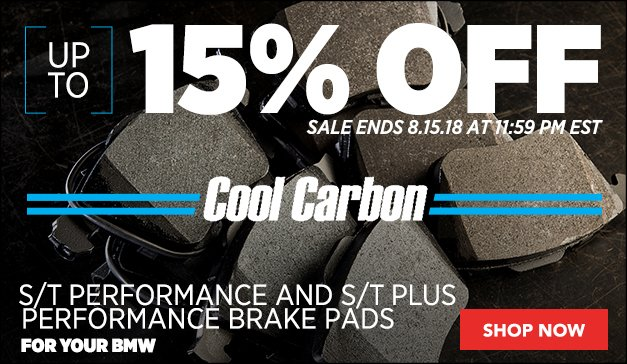 10% Off Cool Carbon S/T Plus Performance Brake Pads | BMW