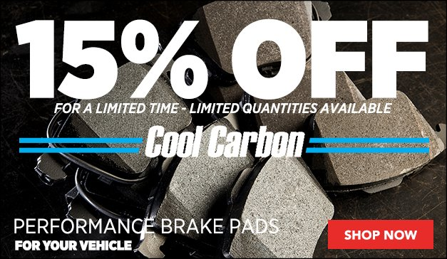 10% Off Cool Carbon S/T Plus Performance Brake Pads | GENERAL