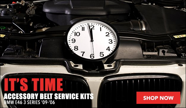 BMW E46 3 Series Belt Service