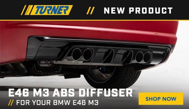 BMW E46 - New Turner Motorsport E46 M3 ABS Diffuser
