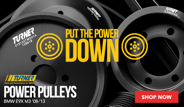 Turner Motorsport Power Pulleys for the BMW E9X M3