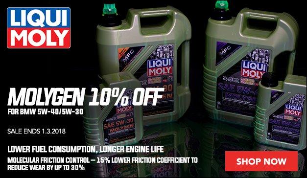 10% Off Liqui-Moly Molygen for your BMW