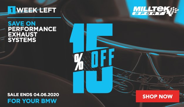BMW - 15% Off Milltek Exhaust Systems
