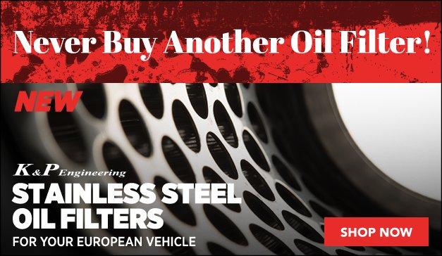 K&P Engineering Stainless Steel Oil Filters | BMW & Porsche