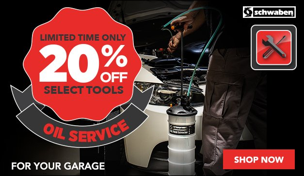 20% Off Schwaben Oil Service Tools - Limited Time Only