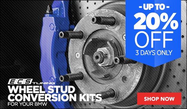 20% Off ECS Tuning Wheel Stud Conversion Kits