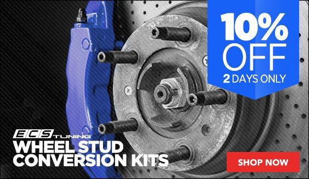 10% Off ECS Tuning Wheel Stud Conversion Kits