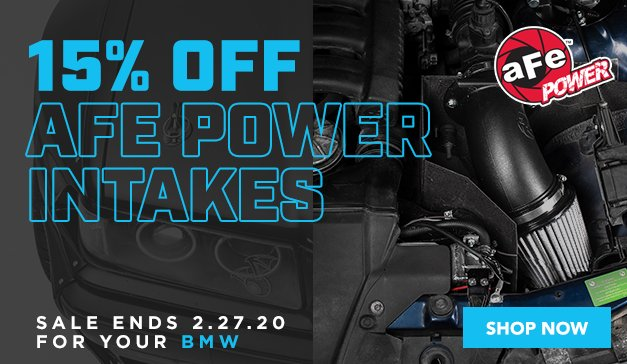 BMW - 15% Off aFe Power Intakes